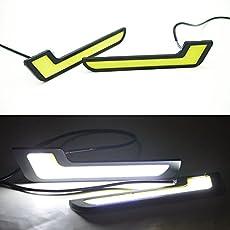 Delhitraderss - 12V COB Car Styling 7 L Shaped LED DRL Light Super Bright Daytime running Lights for - Honda City ZX