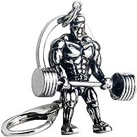 NiceButy metal clave de la cadena de deportes clave de la aptitud de los deportes de la aptitud colgante de cadena de acero inoxidable llavero joyas y accesorios de Ropa