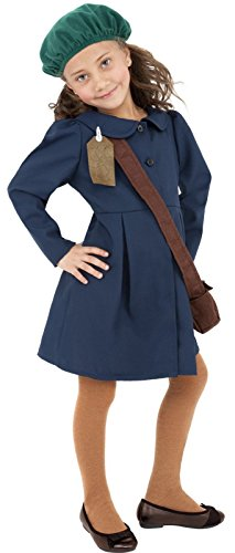 2 World War Kostüm - Star55 Jungen 1940s World War II Menschenrechten beim Kampf gegen Klimawandel Evakuierter Kostüm 4-12 Jahre