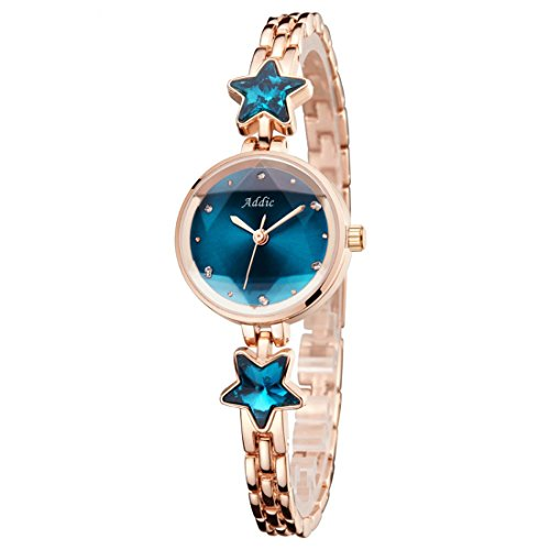 Addic Heritage & Charm Analogue Blue & Rose Gold Girls & Women's Watch - Ww468A