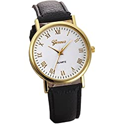 Mallom® Analog Quartz Wrist Watch Black
