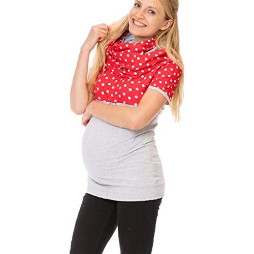 Longzjhd Damen Mutterschaft Hemd Pflege Bluse Wickelschal Multifunktion Bluse Still-Shirt Stillen Kleidung Still-top Frauen Mutterschaft Nursing Bluse Shirt Umstandstop Umstandsmode Top