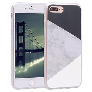 Asnlove iPhone 8 Plus Handyhülle, iPhone 7s Plus Silikon Cover, TPU Weiche Schutzhülle Marmor Kreativ Muster Tasche Etui Backcover Soft Case Hülle für Apple iPhone 8 Plus/iPhone 7 Plus 5,5 Zoll