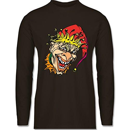 Shirtracer Karneval & Fasching - Clown - Joker - Herren Langarmshirt Braun