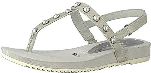 Tamaris Schuhe 1-1-28605-38 Damen Sandaletten, Sandalen, Sommerschuhe grau (STONE), EU