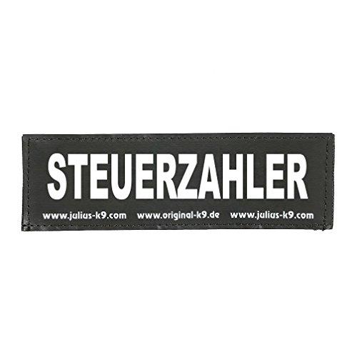 Julius-K9 Klettaufschrift, schwarz, klein, STEUERZAHLER