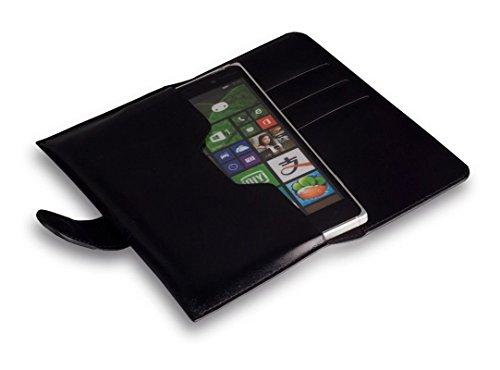 """Bookstyle Handytasche Flip Case schwarz geeignet für """"Alcatel One Touch Idol 3 4.7""""Handy Schutz Hülle Etui Schale Cover Book Case"""