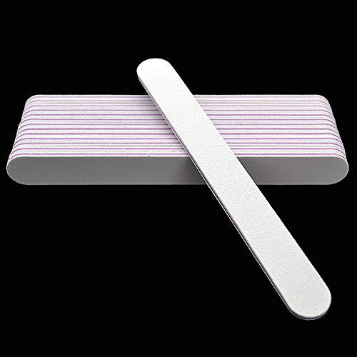 10pcs / Weiß Nagelfeilen Kalk ein Ongle 100/180 Grit UV Buffing Polish DIY Nagel Make-up-Tools -