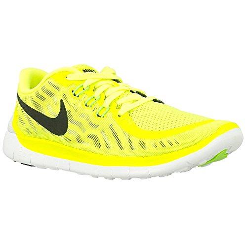 Nike Free 5.0 (Gs) Scarpe da corsa, Bambine e ragazze, Multicolore (Hypr Grape/Ghst Grn-Mtllc Slvr), 37 1/2 Volt/Black