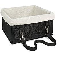 BIGWING Style-Transportín Capazo Portador para Mascota/Perro/Gato en Coche Automóvil a Mano Plegable Impermeable 28x33x18 CM, Negro