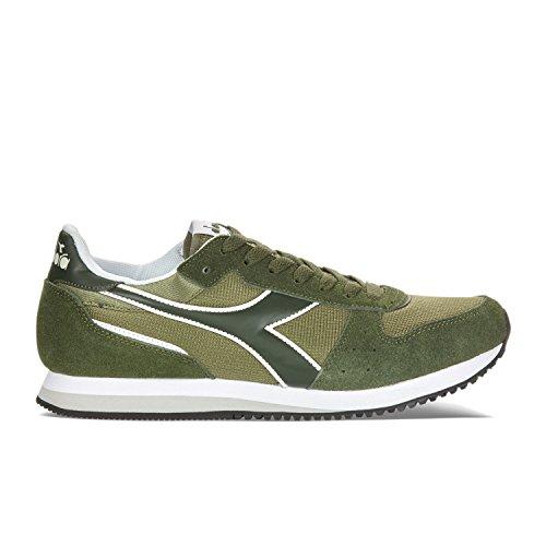 Diadora Unisex-Erwachsene Malone Niedrige Sneaker C6253 - GREEN-GREEN RIFLE OLIVINA