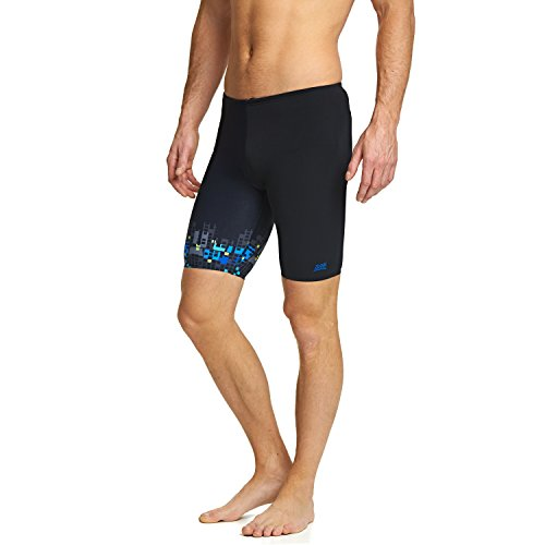 Zoggs Metallic Jammer Badeshorts, Herren S Black/Multi-Colour