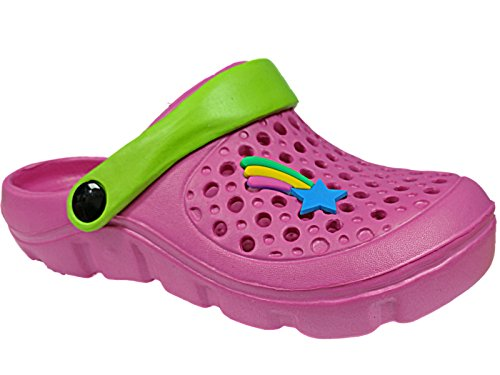 Foster Footwear , Sandales pour fille Fuxia/Green
