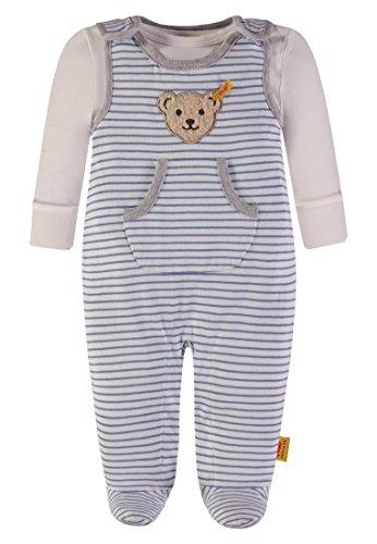 Steiff Collection Jungen 2tlg. Set Strampler o T-Shirt 1/1 Arm 6832725, Mehrfarbig (y/d Stripe 0001), 74