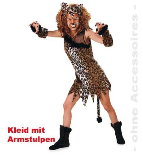 Katze Miezekatze Damen Kleid GR: 42 Kostüm Plüsch 1tlg. mit Armstulpen