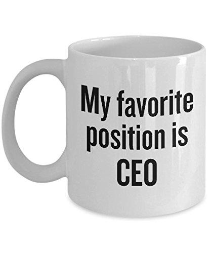 Taza de café feminista para mujer, regalo de feminismo, igualdad de género, mi posición favorita es CEO
