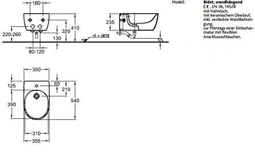 Keramag iCon Wand-Bidet L: 54 B: 35,5 cm weiß mit KeraTect