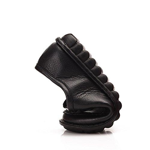 Chaussures femme/Plat moyen et vieux ans chaussures femme/Chaussure de mamans/Chaussures de fond mou/Chaussures femme A