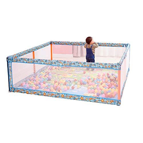 HH- Laufstall Blue Baby Play Yard Mit Matte, Extra Große Kleinkind Laufstall Kinderspielzaun, Jungen Mädchen Indoor Outdoor Spielplatz (Size : 120 × 120 × 60cm) -