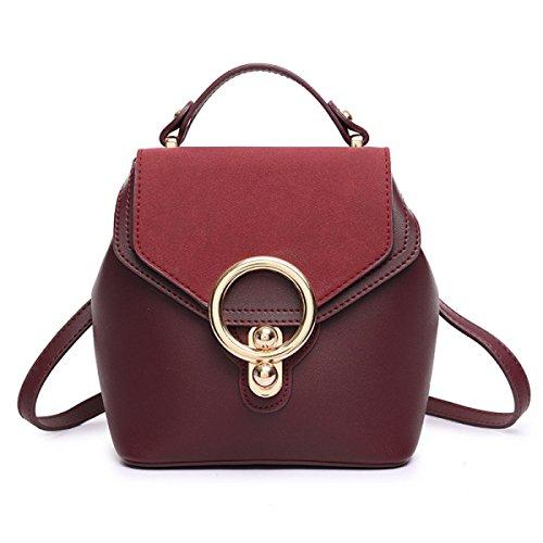 ZPFME Umhängetaschen Retro Ring Handtaschen Party Retro Bankett Mode Umhängetasche Mädchen Tasche Red