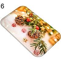 Teppich Terzsl Weihnachten Flanell Teppichbodenmatte Rutschfeste Teppich Pad Badezimmer Weihnachten Home Decor - 6#