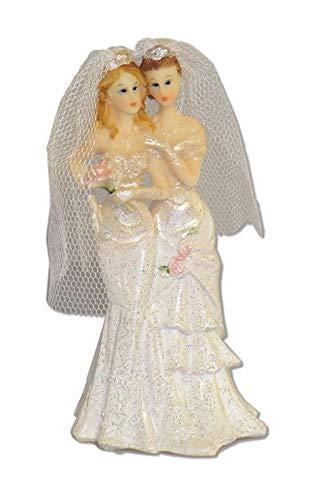 Horror-Shop Lespisches Hochzeitspaar aus Polyresin 11,5 (Horror Brautpaar Kostüm)
