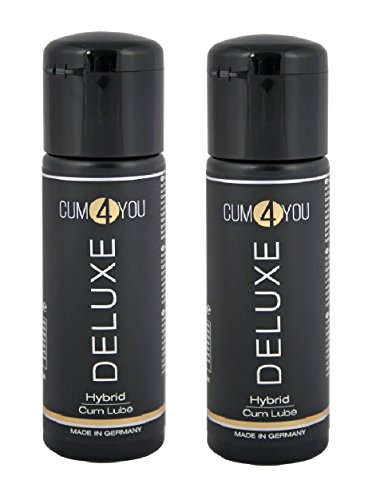 Cum4YOU Deluxe - Hybrid Gleitgel/Gleitmittel - künstliches Sperma wasserlöslich nicht färbend kondomsicher - 2x100 ml (200ml) - Made in Germany