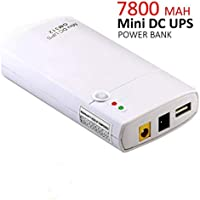 Mini UPS GM312 de 7800 mAh de Iones de Litio y Entrada de 11-13 V CC, Power Bank para Router Inalámbrico, Cámaras, Webcam,Teléfonos y Otros Aparatos