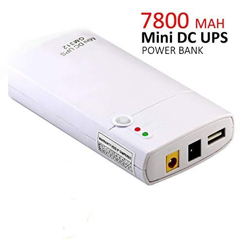 Inepo UPS GM312 unterbrechungsfreie Stromversorgung mit integriertem Li-Ion-Akku mit 7800 mAh Powerbank für Router, LED-Lichterketten, Kameras, Mobiltelefone und andere Geräte
