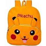 Blue Tree Soft Material School Bag For Kids Plush Backpack Cartoon Toy | Children's Gifts Boy/Girl/Baby/ Decor School Bag For Kids(Age 2 To 6 Year) (Pikachu)(Yellow)