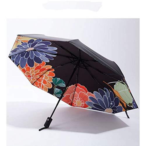 SONGSH Sonnenschirm Automatik Sonnenschirm Schwarz Kunststoff Dick Klappbar Winddicht Ist Sehr Gut Geeignet Für Geschäftsreisen Oder Den Alltag Regenschirm (Color : Automatic Umbrella Boom) -