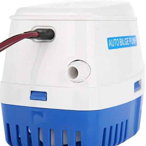 Dergtgh 12V 750 GPH Bilgenpumpe für Boote Yacht Automatische elektrische Tauchwasserpumpe Zündschutz -