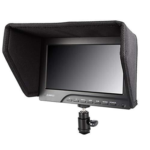 LFTS Videomonitor Direktor 7 Zoll auf Kamera DSLR-Feldmonitor Voller HD-Fokus Video-Assistent IPS Mit 4K HDMI-Eingang Ausgang 800x480 Auflösung Gimbal Shooting Hd-dslr-kameras