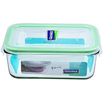 Glass Lock Rectangle Container, 715ml