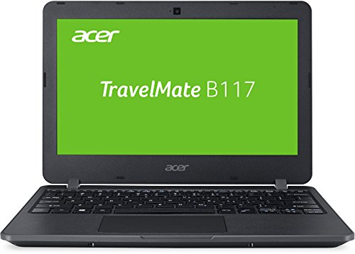 Acer TravelMate B117 (B117-M-C1W5) 29,46 cm (11,6 Zoll) HD Notebook (Intel Celeron N3160, Intel HD Graphics 400, 4 GB RAM, 128 GB SSD, Linux Endless OS) schwarz