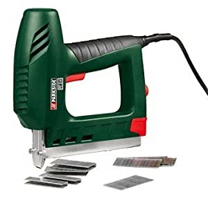 parkside electric staple nail gun with 1 000 nails and electronics