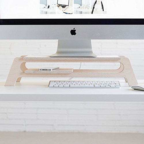 Supporto dello schermo in legno, solleva lo schermo e ha spazio per ordinare la scrivania- DEBRIDGE