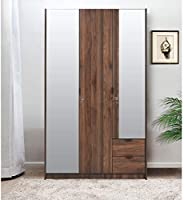 @home by Nilkamal Avery 3 Door Wardrobe with Mirror, Wenge