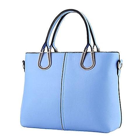 koson-man Femme Vintage Sacs bandoulière Sac à Poignée Supérieure Sac à main, bleu (Bleu) - KMUKHB262