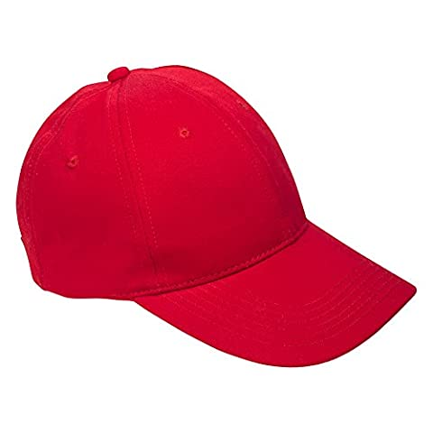 Classic Showerproof Baseball Cap With 6 Panels - One Size - Red
