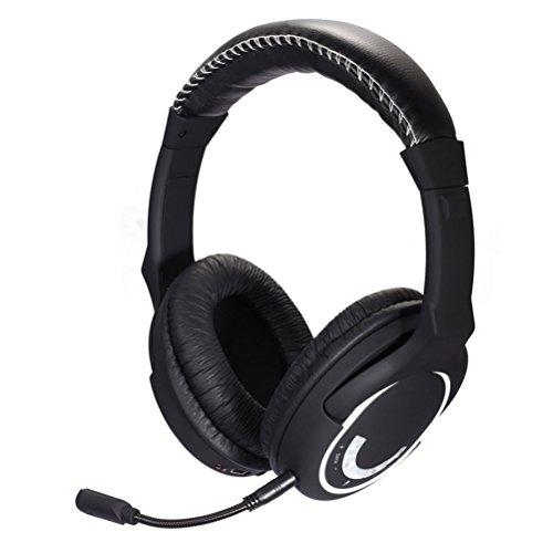 Hamswan Kopfhörer Gaming HUHD hw-390m 2,4GHz Surround Sound für Xbox 360/PS3/PS4/WII/PC/Mac/TV Plug 10m Transmitter Mikrofon Kompatibel mit Xbox One (Wenn Sie bereits über ein Microsoft-Adapter oder Kinect) (Surround-sound-system-clips)