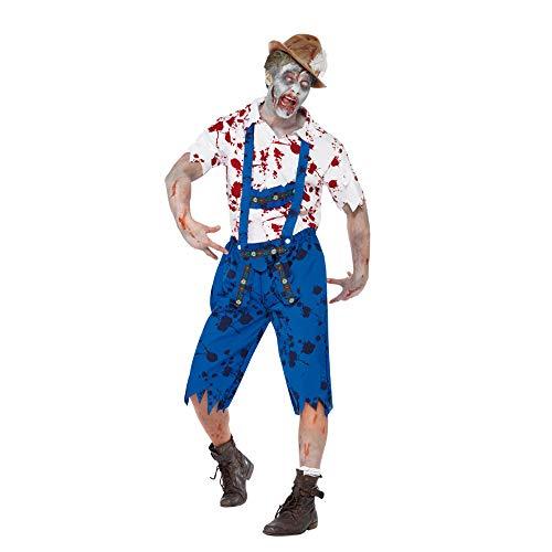 Kostüm Baby Mutterschaft Zombie - PRTQI Halloween-Kostüm Erwachsene Horror Blutige Cosplay Reparirman Männer Zombie-Kostüm,M