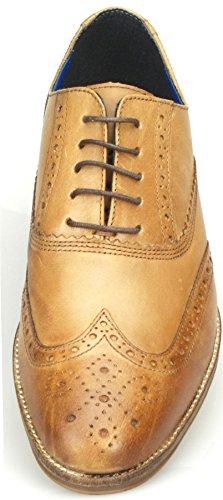 Red Tape - Chaussures à lacets habillés en cuir pour homme - Fauve/bordeaux/marron/noir Marron