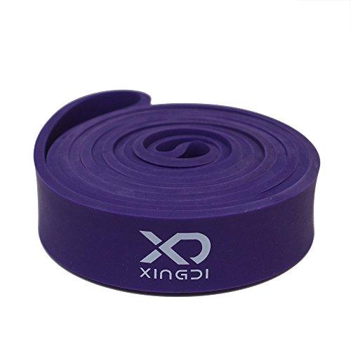 Xingdi Resistance Band Latex Lila Fitnessband Trainingsband Cross-Fit 6 Größen Yoga Workout Widerstandsband Übungsband - 16-38 KG - [Medium]