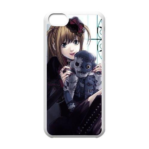 Death Note coque iPhone 5C Housse Blanc téléphone portable couverture de cas coque EBDXJKNBO11440