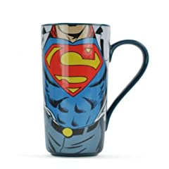 Idea Regalo - Lasgo Superman Tazza Lunga Super Strength, Ceramica, Multicolore