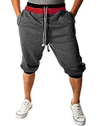 HEMOON Homme Pantalon de jogging/sports Sarouel Short