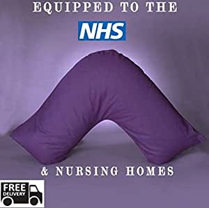 "•RohiLinen• NEW Living Orthopedic V Shaped Support pillow ""Includes Complimentary Purple Pillow Case FREE"""