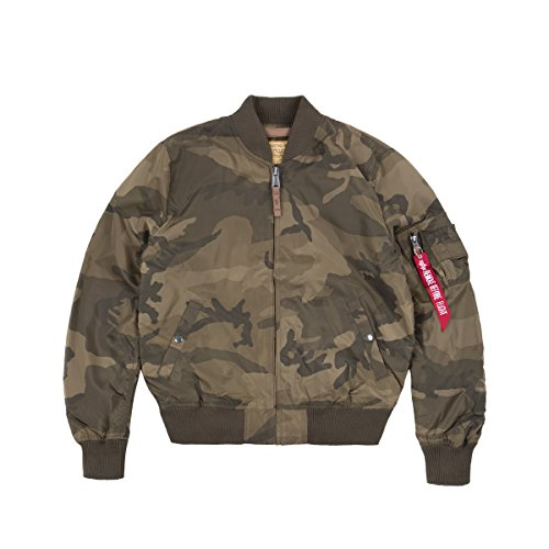 Alpha Industries Herren Jacken/Bomberjacke MA-1 TT Camouflage S Alpha Flight Jacket