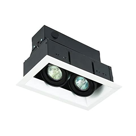 Eurofase TE112-02 2-Light MR16 Recessed Mutiple Strip Trim, White by Eurofase (Mr16 Trim)